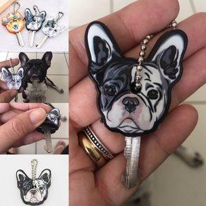 French bulldog silicone key cover
